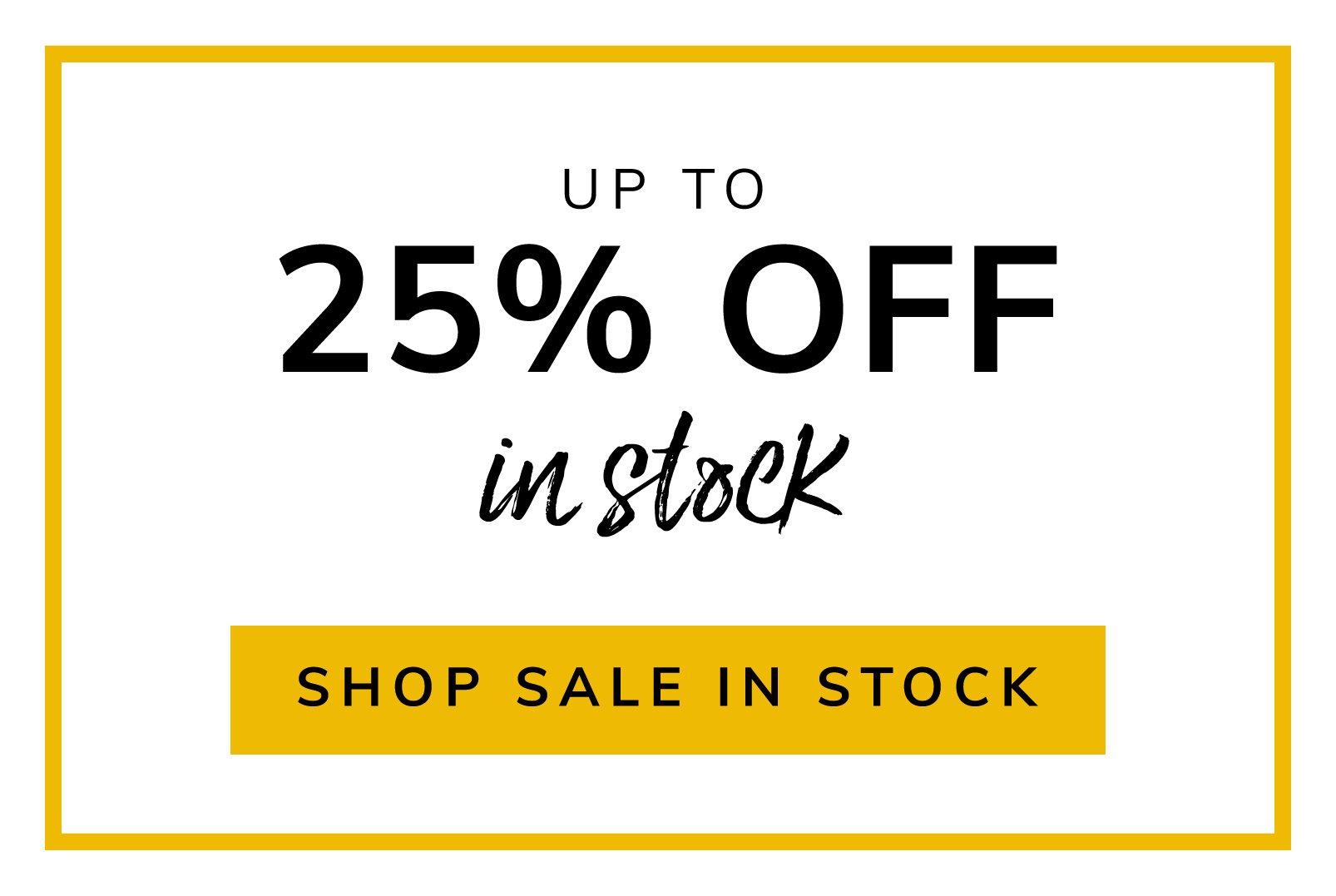 Sale In Stock