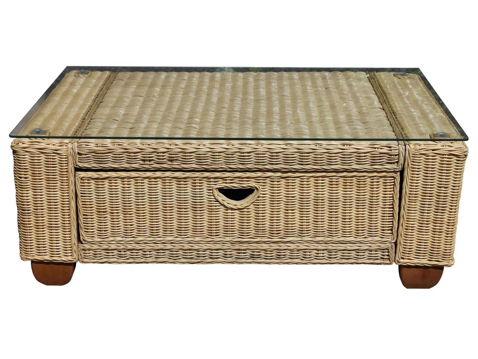 Kingston wicker coffee table Coffee table with wicker baskets