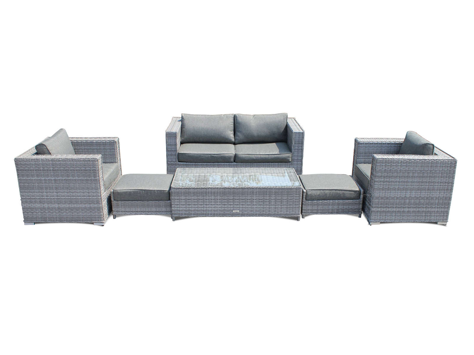 Rattan set  Ascot 2 Seater Rattan Sofa Set in Grey | Rattan Sofa Sets | Rattan ...