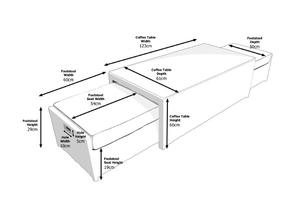 Dimensions of Ascot Coffee Table