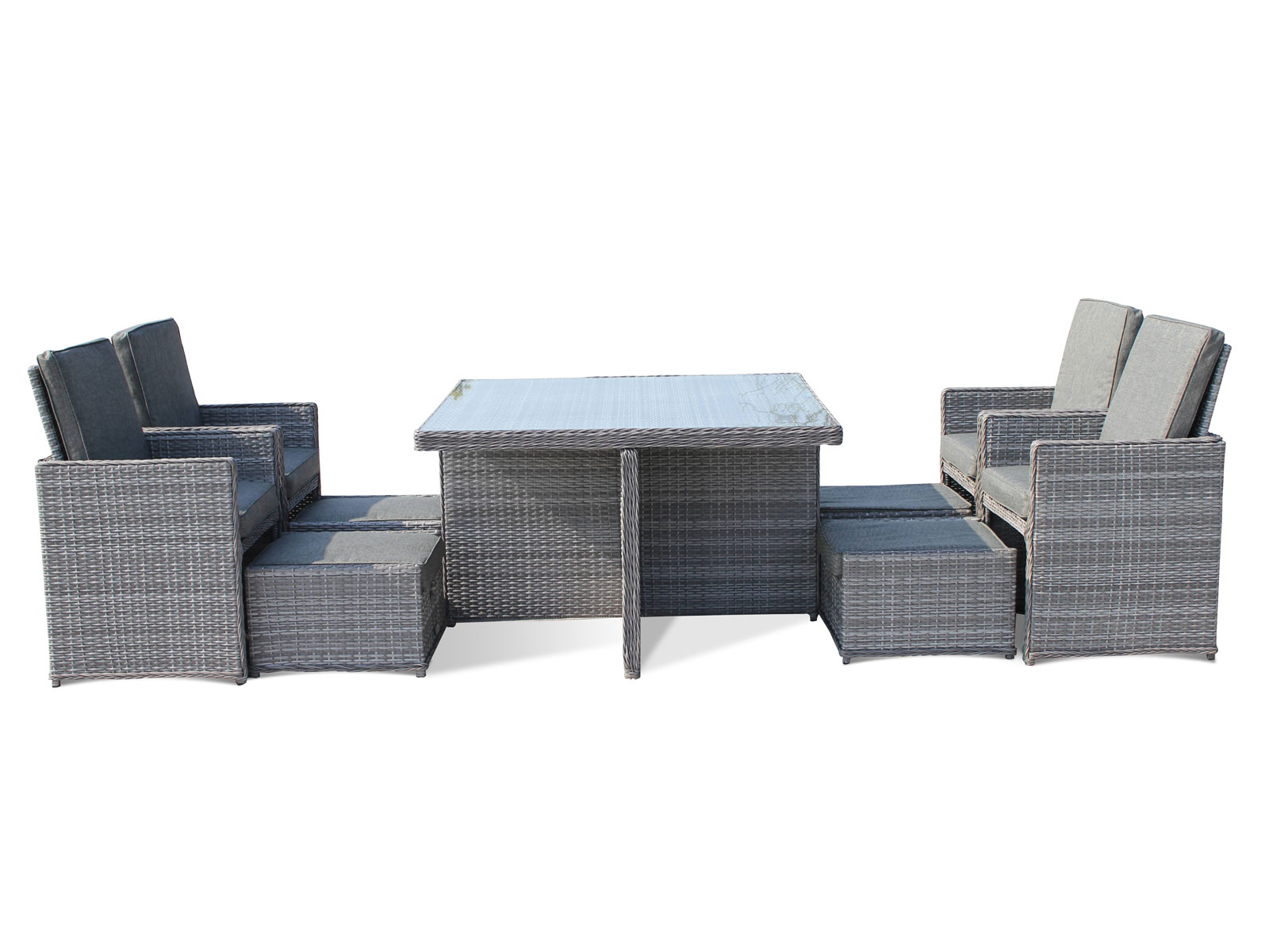 Grey Rattan Garden Furniture Uk Rattan garden furniture cube sets rattan furniture rattan direct barcelona 9 piece rattan garden cube set in grey workwithnaturefo