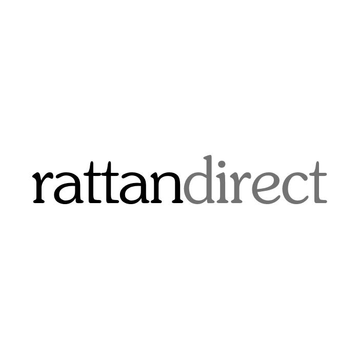 Rattan corner sofa section in a grey