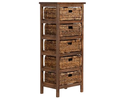 5 Drawer Abaca Rattan Storage Rack