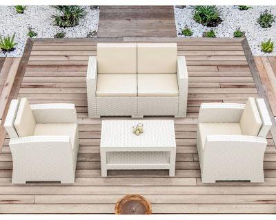 Madrid Lounge Set in White