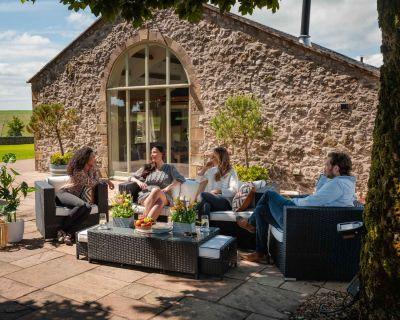 Ascot 3 Seater Rattan Garden Sofa Set in Black and Vanilla