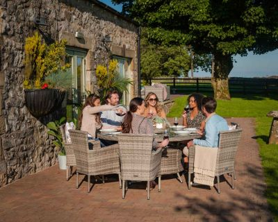 8 Seater Round Rattan Dining Table