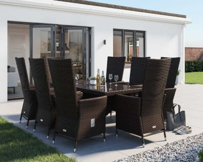 Cacambridge Chairs And Rectangular Table Set In Chocolate And Cream