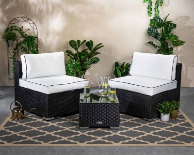 Florida Bistro Set - Black and Vanilla
