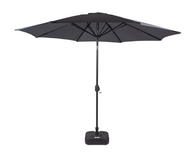 Market Parasol And Plastic Base in Grey