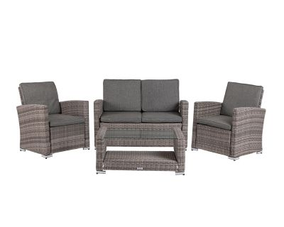 Marbella Rattan Garden Sofa Set in Grey