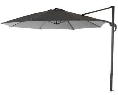 Rotating Cantilever Parasol in Grey - No Base