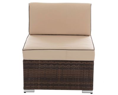 Florida Rattan Garden Mid Section in Chocolate Mix and Coffee Cream