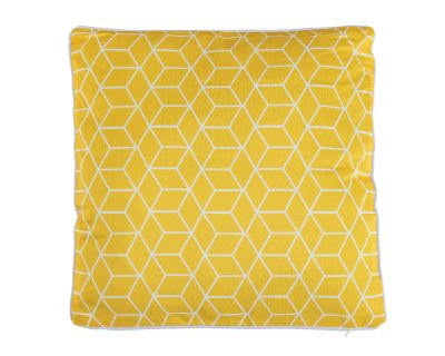 Premium Scatter Cushion in Geometric Yellow