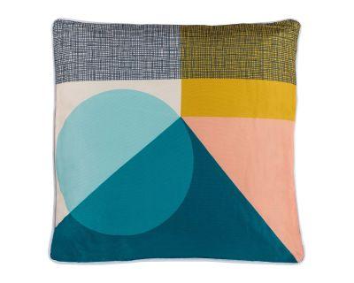 Premium Scatter Cushion in Multi coloured geometric