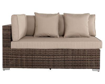 Monaco Rectangular Right As You Sit Rattan Garden Sofa in Truffle & Champagne - Premium Weave