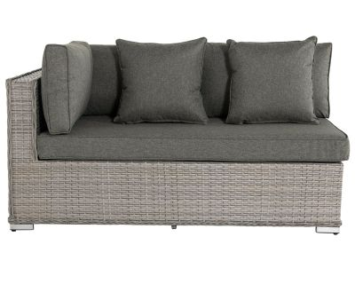 Monaco Rattan Garden Day Bed Sofa Right As You Sit in Grey