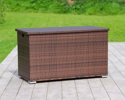 Outdoor storage box in chocolate