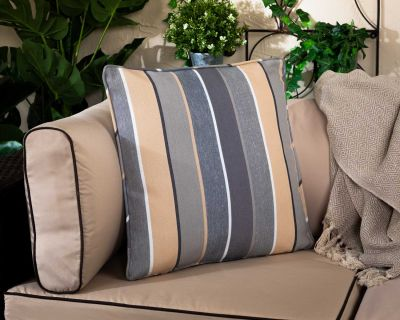 Premium Scatter Cushion in Grey Multistripe
