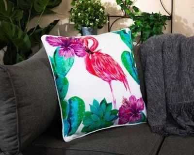 Premium Scatter Cushion in Flamingo Print