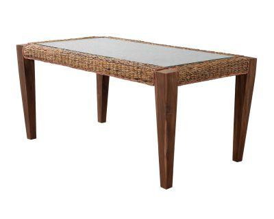 Milan Abaca Rattan Large Dining Table