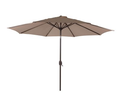 Market Parasol in Chocolate and Cream