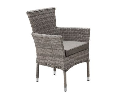 Cambridge Stackable Rattan Garden Chair in Grey