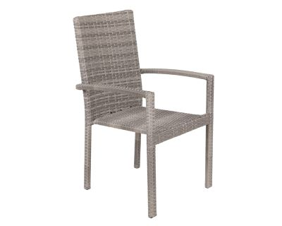 Rio Rattan Garden Stacking Chair in Grey
