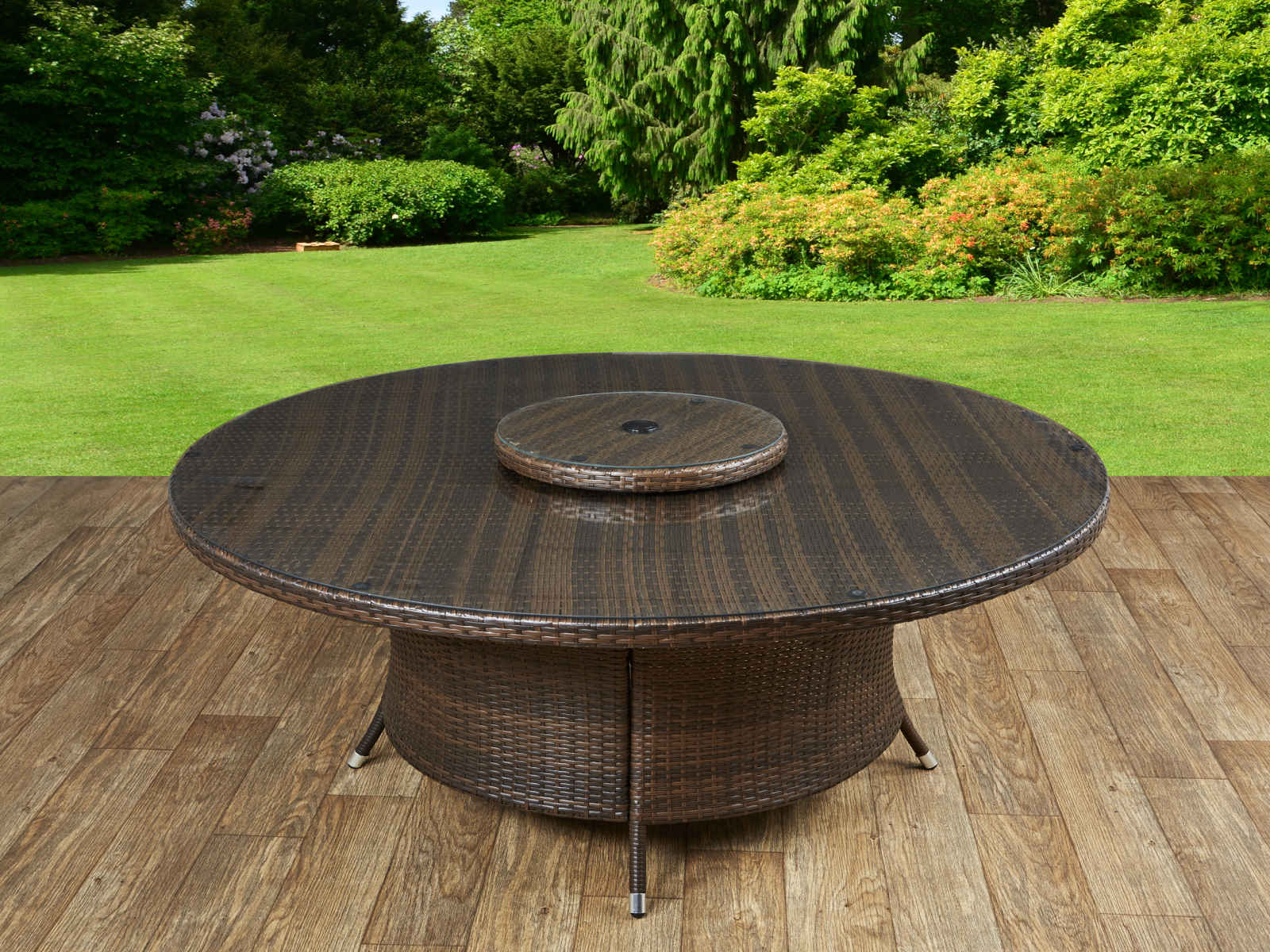 Round Garden Dining Table Part - 32: Rattan Direct