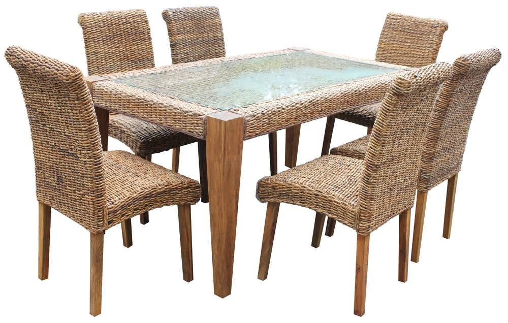 Wicker Dining Table Sets ~ Dining table rattan and chairs
