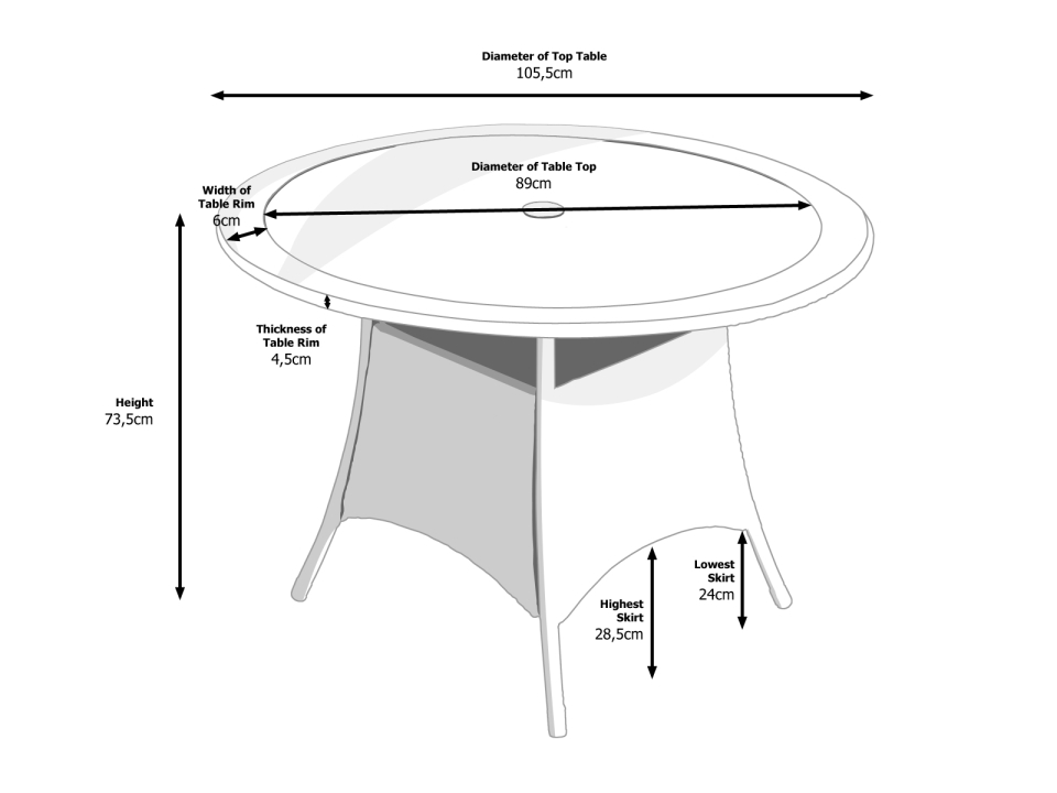 Dimensions of Small Round Dining Table