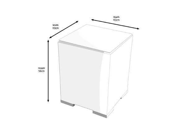 Dimensions of Tall Square Side Table