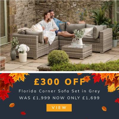 £300 off Florida Corner Sofa Set in Grey