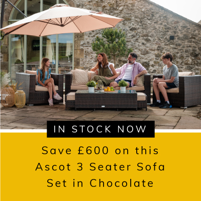 £600 off Ascot 3 seater sofa set in chocolate and cream
