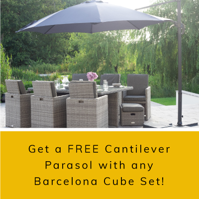 FREE Cantilever Parasol - WORTH £249 - with any Barcelona Set