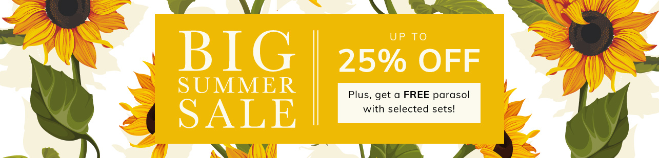 Big Summer Sale up to 25% off