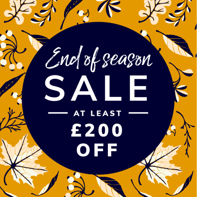 Autumn Sale now on up to £150 off