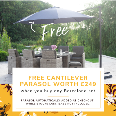 FREE Cantilever Parasol with any Barcelona Set