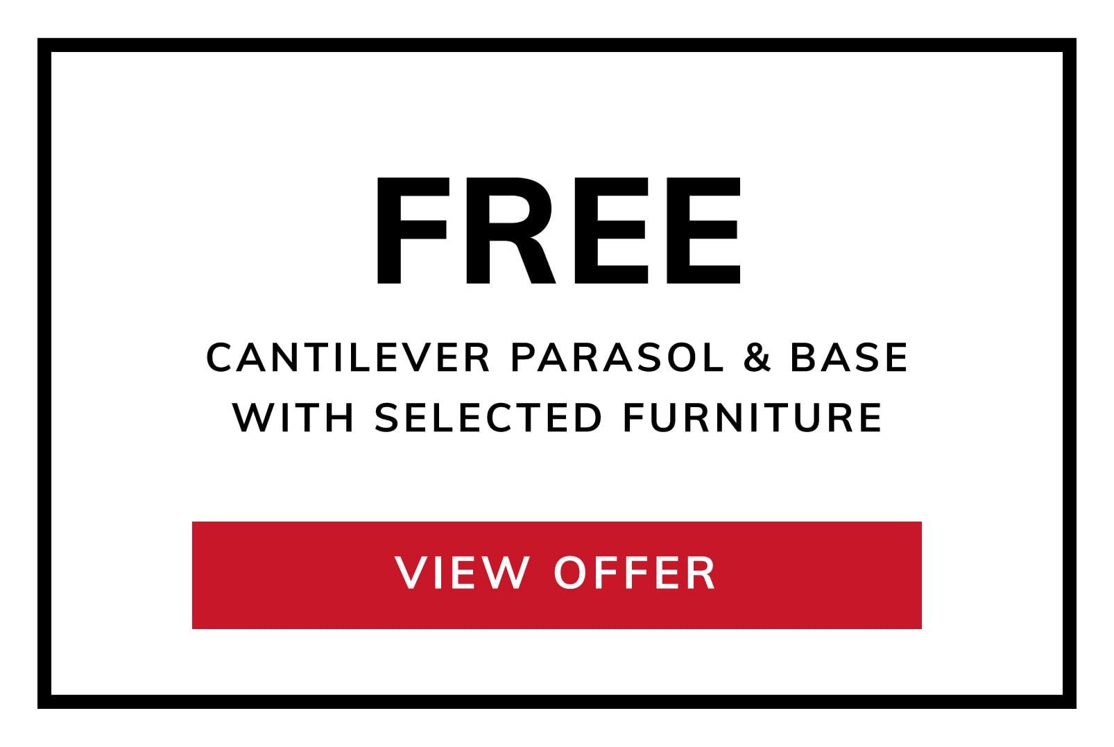 Free Cantilever Parasol & Base