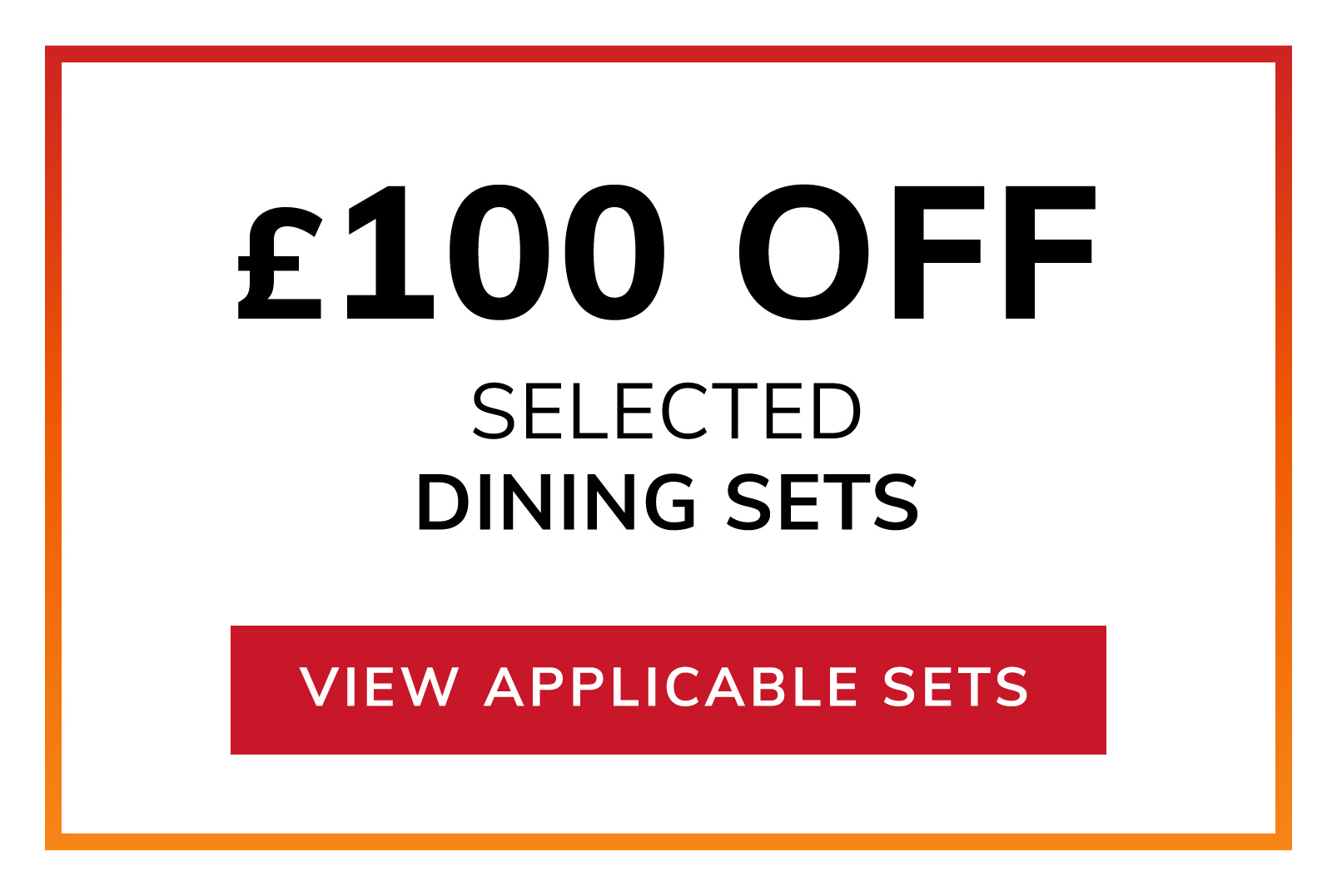 £100 OFF Selected Dining
