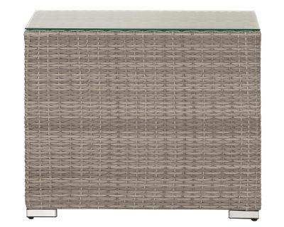 Florida Rattan Garden High Dividing Table in Grey