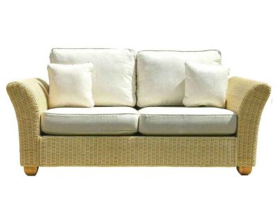 Kingston Wicker Lge 2 Seat Sofa Oatmeal