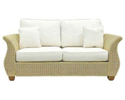 Chelsea Wicker Lge 2 Seat Sofa Oatmeal