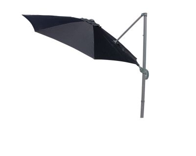 Rotating Cantilever Parasol in Black - No Base