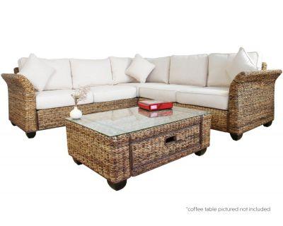 Knightsbridge Abaca Rattan Corner Sofa