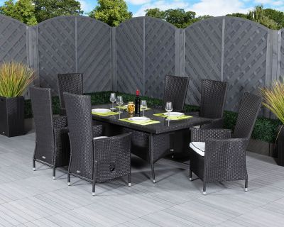 Rattan Set With 6 Recliners