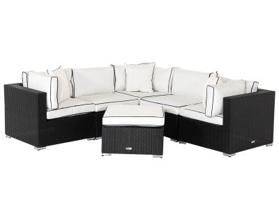 6 Piece Florida Rattan Corner Sofa Set With Table