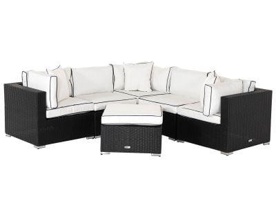 6 Piece Florida Rattan Corner Sofa Set With Table