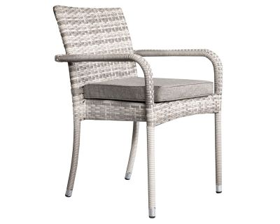 Roma Stackable Rattan Garden Chair in Grey