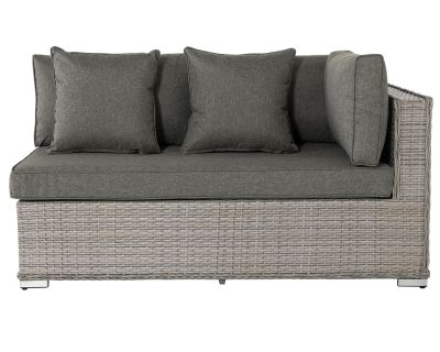 Monaco Rattan Garden Day Bed Sofa Left As You Sit in Grey