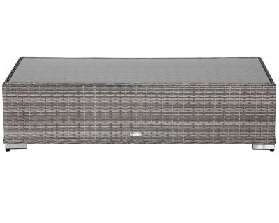 Grey Rattan Long Coffee Table